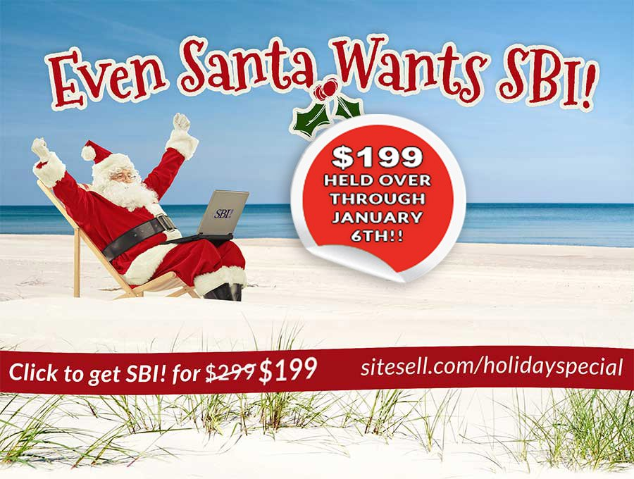 SiteSell Holiday Special! - Even Santa Wants SBI!