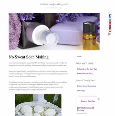 No Sweat Soap Design